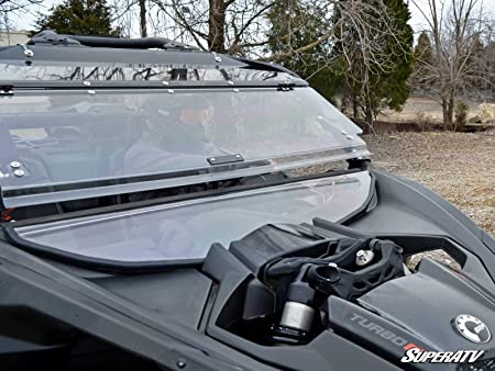 Amazon.com: SuperATV Heavy Duty Scratch Resistant Flip Windshield for Can-Am Maverick X3 900 / Turbo/X RS/X DS/X MR/MAX (2017+) - Can Be Set To 3 Different ...