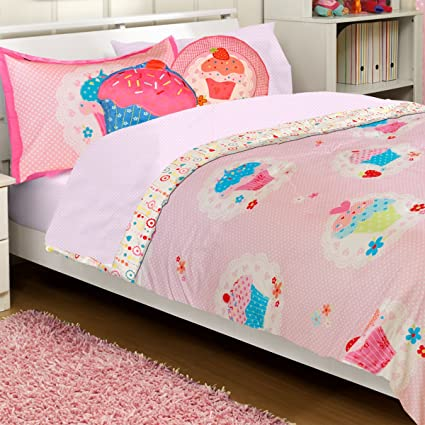 Amazoncom 2pc Cupcake Dreams Twin Bed Comforter And Pillow Sham