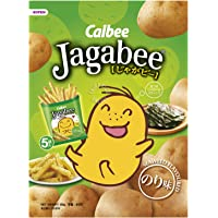 Calbee Jagabee Potato Stick Pouch, Seaweed, 85g (Pack of 5)