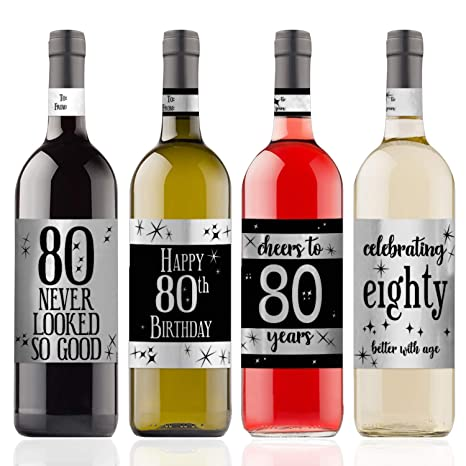 Amazon.com: Pegatinas para botellas de vino metálicas para ...