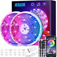 Led Strip 10m, JESLED 10m LED Smart WiFi LED-strip, RGB LED-bandkit bestuurbaar via app & RF 44-knoppen…