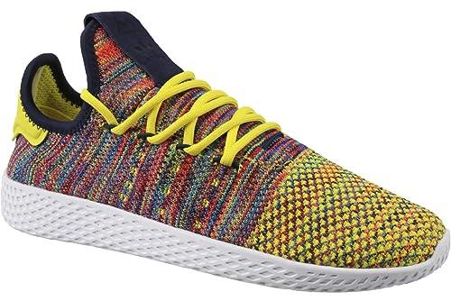 Zapatillas adidas - Pw Tennis Hu amarillo/multi/blanco talla: 44: Amazon.es: Zapatos y complementos