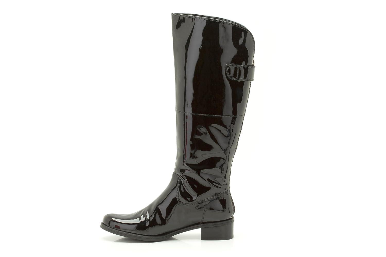 d544c913d47 Ladies Clarks Knee High Boots Kildale Drama Black Patent Size 4D   Amazon.co.uk  Shoes   Bags