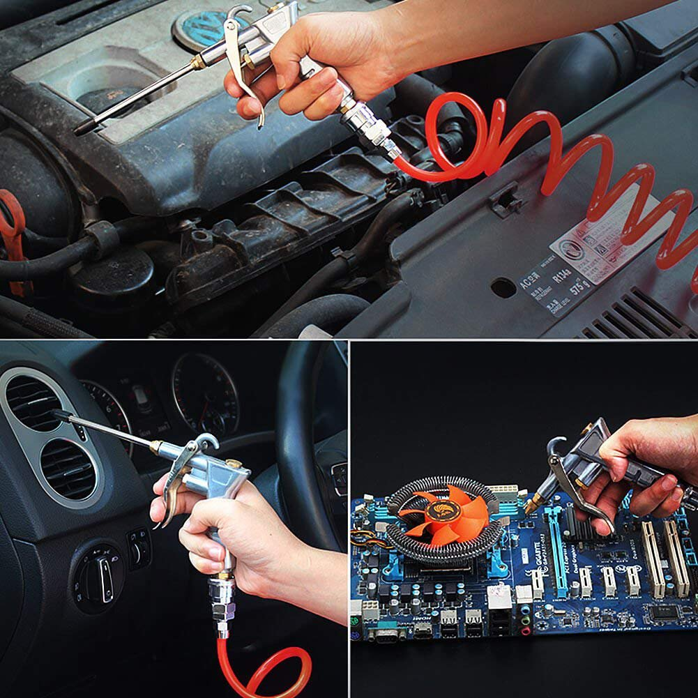 Air Blow Gun QM-STVR Air Duster Cleaner Gun Adjustable Nozzle Gun Air Gun Compressor for Decoration Dead Dust, Car Dust, Electrical Dust