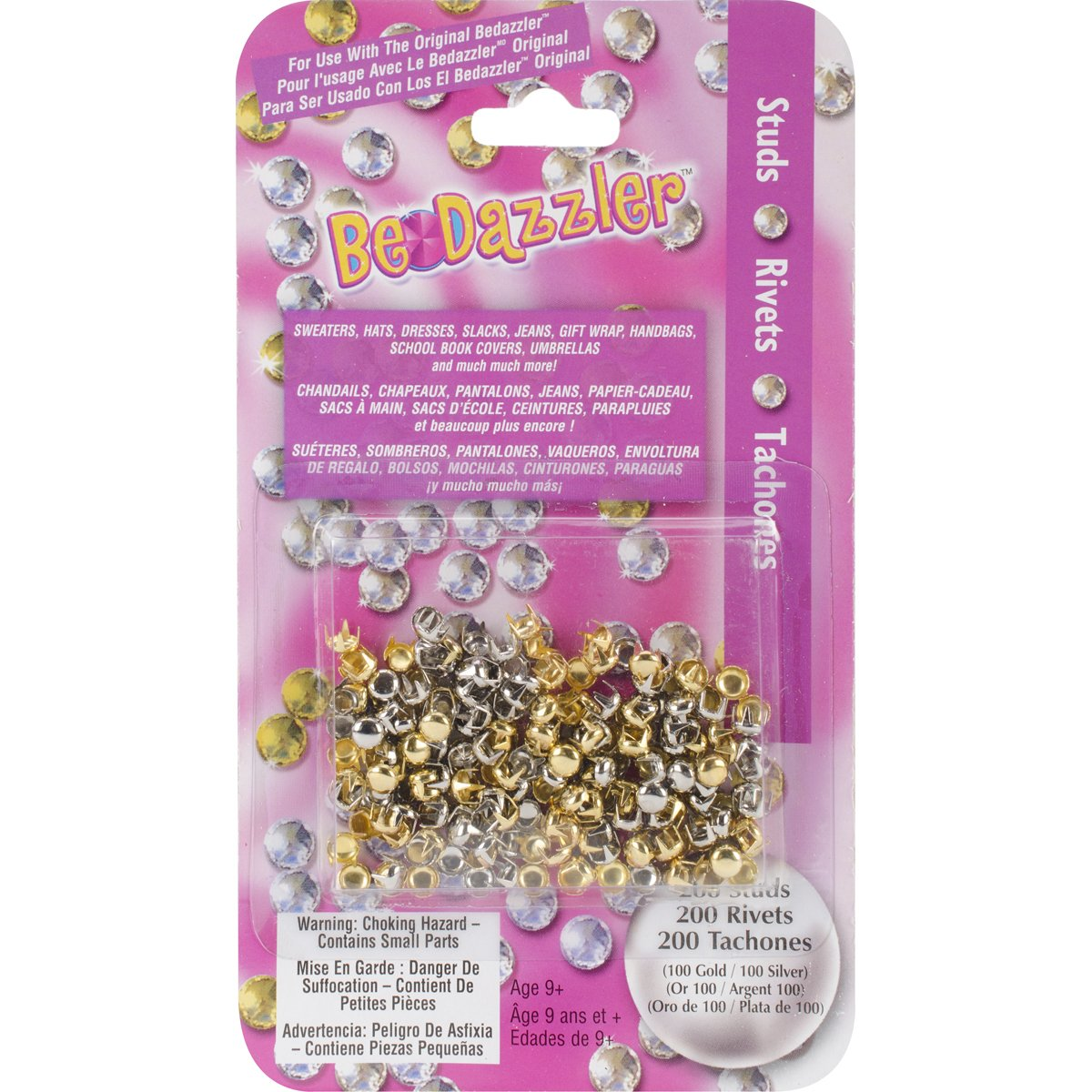 Amazon.com: Brand New Be Dazzler Stud Refill 200/Pkg-Gold & Silver Brand New: Arts, Crafts & Sewing