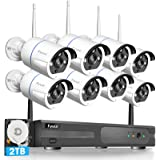 【Two-Way Audio】 Security Camera System Wireless, Fyuui 1080P 8 Channel Wireless Surveillance NVR with 2TB Hard Drive…
