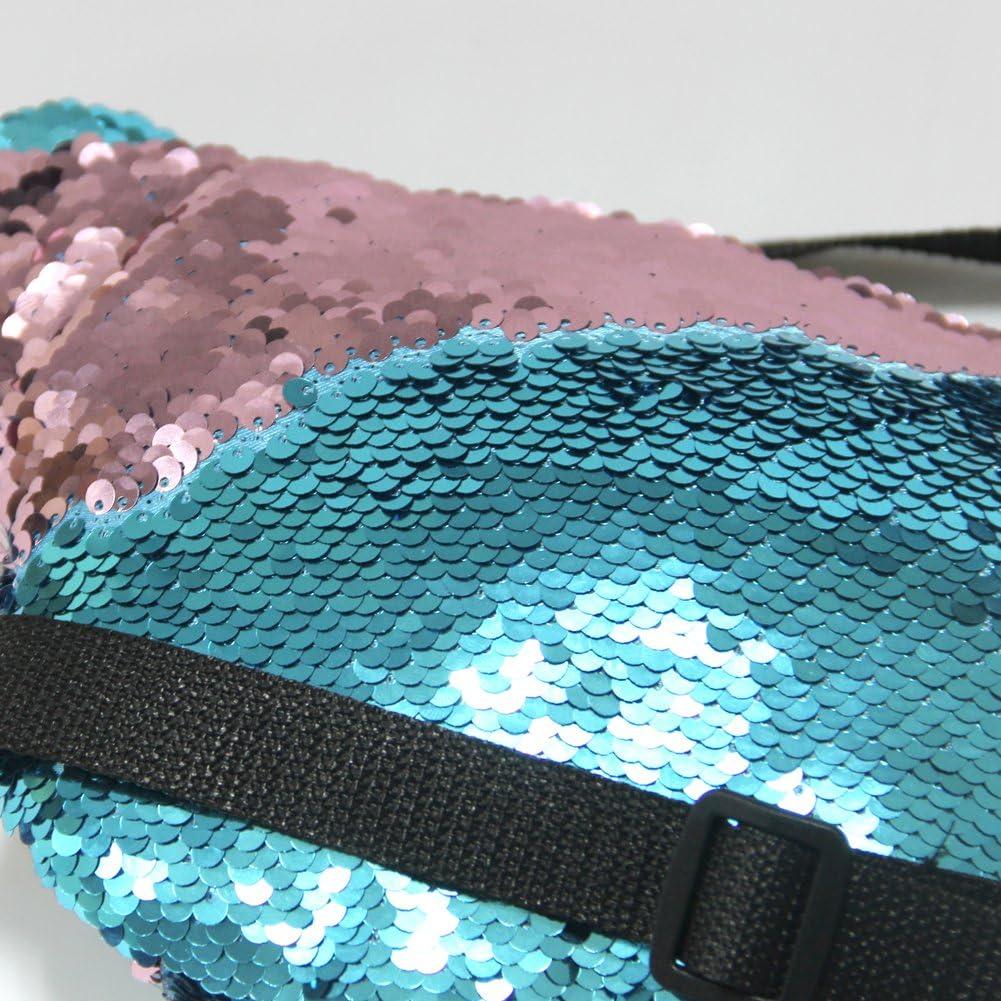 ICOSY Unisex Glitter Meerjungfrau Pailletten H/üfttasche G/ürteltasche Sporttasche Outdoor Travel Umh/ängetaschen 35x15cm
