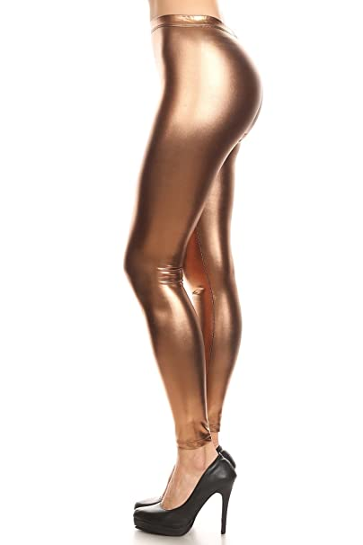 08998cd73c980 Verty - Metallic High Waisted Leggings at Amazon Women's Clothing store: