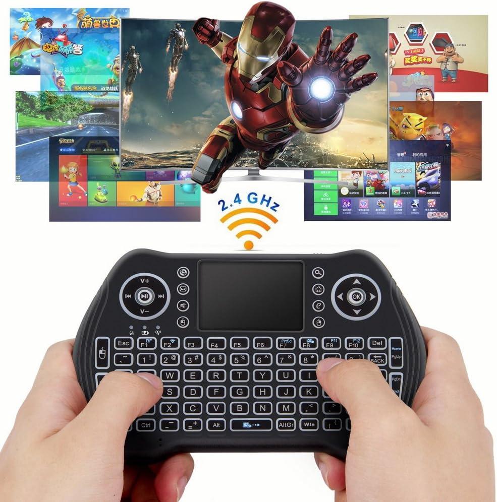 PS4/ /à Main lev/ée /à Distance avec Souris Touchpad pour Android TV Box Noir Windows PC PS3 HTPC Xbox 360 IPTV Zedo r/étro/éclair/é Mini Clavier sans Fil 2,4/G Raspberry Pi