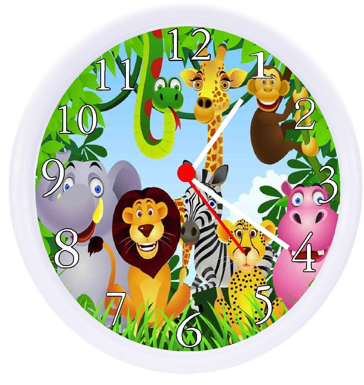 Rusch Inc. Jungle Safari Animals Wall Clock
