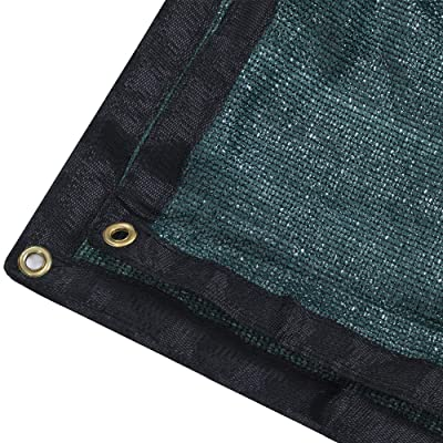 DIR 90% UV Black or Green Shade Cloth Premium Mesh Shade Sunblock Shade Panel with Grommets (6ft x 10ft, Green) : Garden & Outdoor