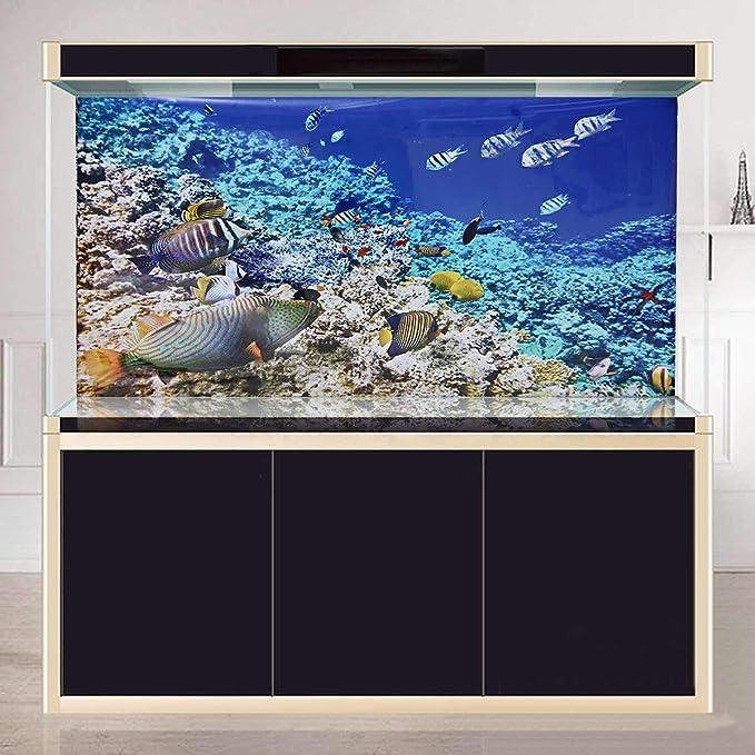 HD – Vinilo autoadhesivo para acuario, diseño de océano y coral ...