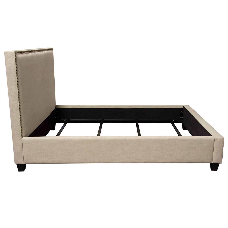 Fabulous Amazon Com La Jolla California King Bed With Nail Head Machost Co Dining Chair Design Ideas Machostcouk