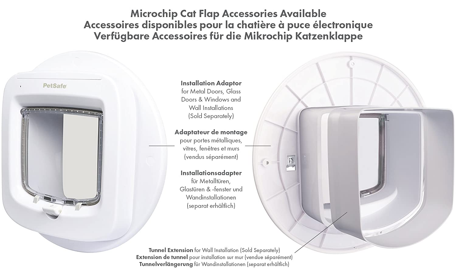 PetSafe Microchip Cat Flap Installation Adaptor, Easy Install, Glass Door  And Walls: Amazon.co.uk: Pet Supplies