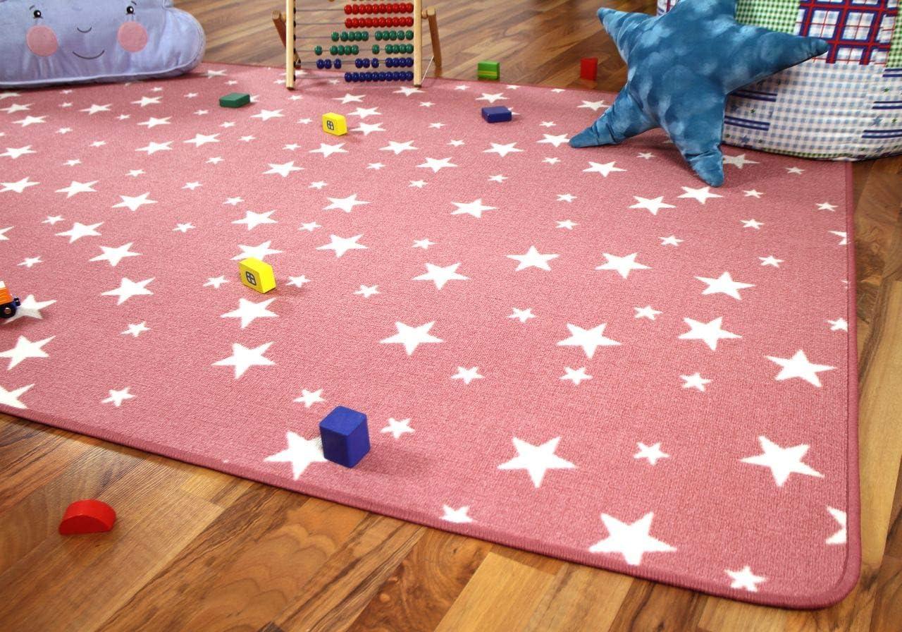 Snapstyle Tapis de Jeu pour Enfant Motif Etoiles Rose 17 Tailles Disponibles