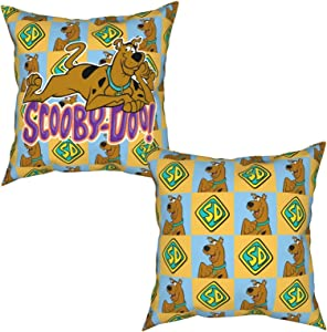 LADHRNZCMX Scooby Doo Square Throw Pillow Covers Couch Cushion Case for Sofa Bedroom Car Decor 18