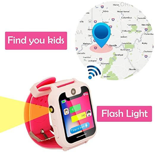 Niños Inteligente Relojes, Niños GPS Smartwatch con Rastreador GPS ...