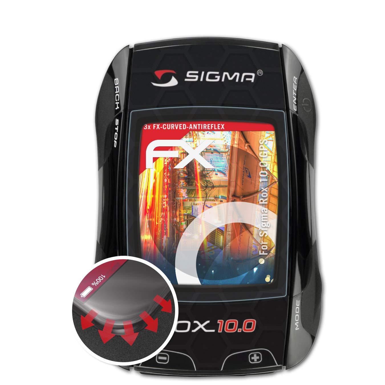atFoliX Protettiva di Schermo alta Protezione compatibile con Sigma Rox 10.0 GPS Anti-Shock Pellicola protettiva antiriflesso e flessibile FX Pellicola Protettiva 3X
