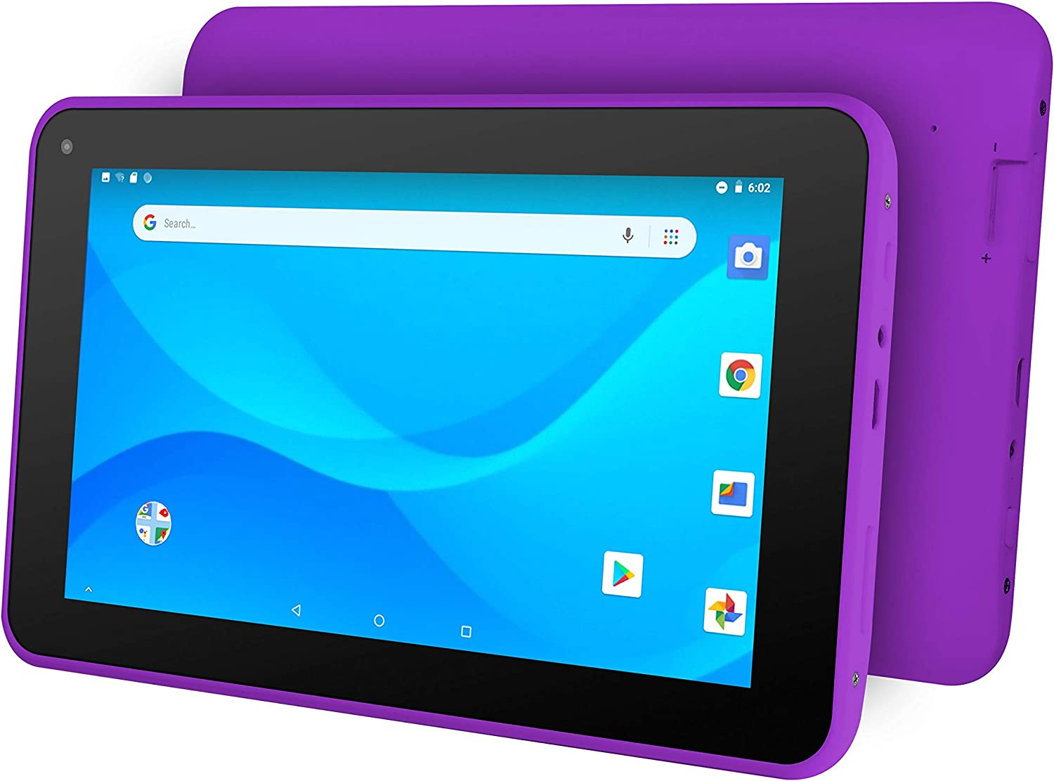 "Ematic 7"" Quad-Core Tablet with Android 8.1 Go Edition, Purple"