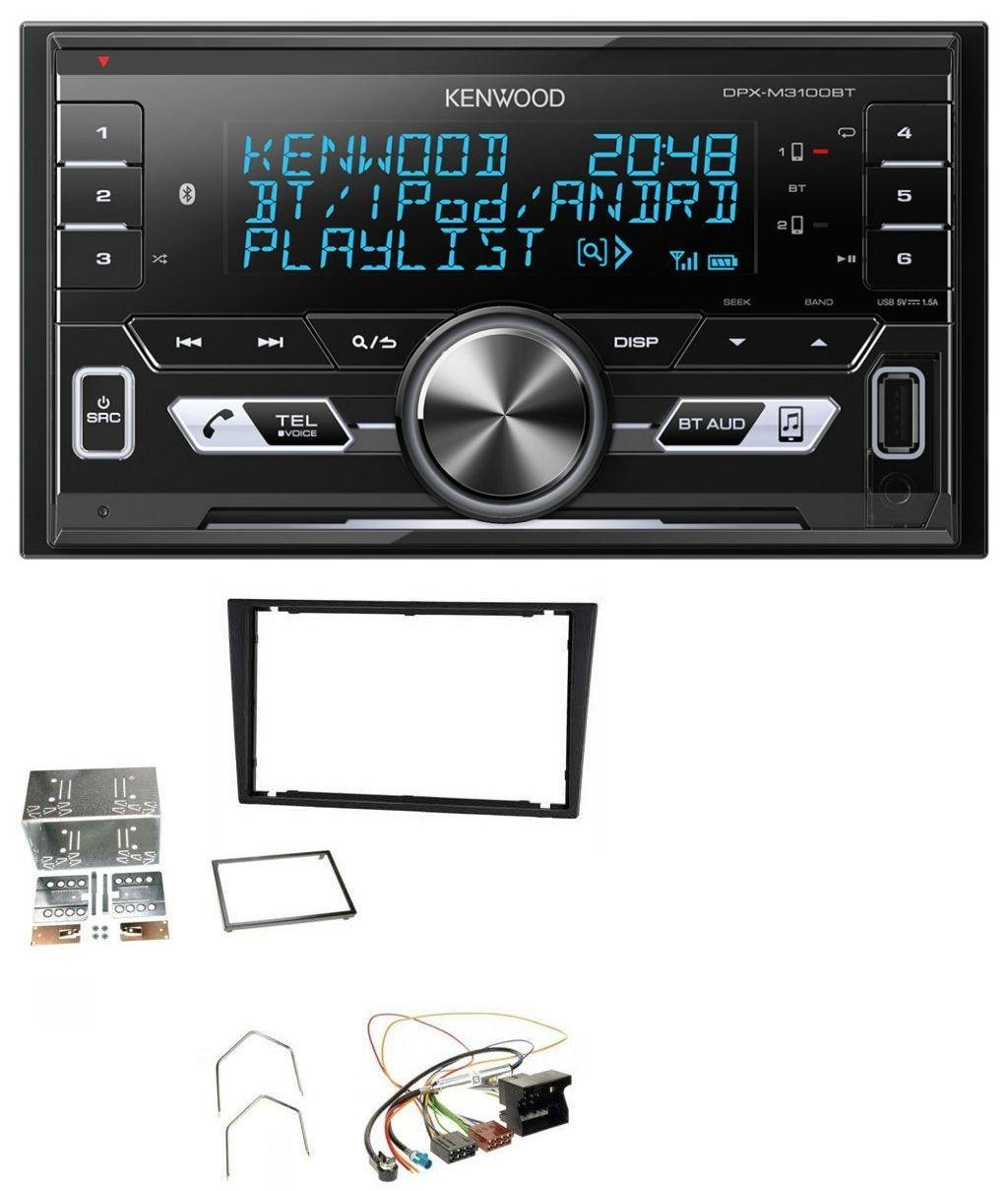 Kenwood DPX-M3100BT 2DIN Aux MP3 Bluetooth USB Autoradio fü r Opel Corsa C Signum Vectra B ab 2005 Charcoal caraudio24