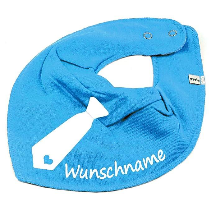 HALSTUCH KRAWATTE mit Namen oder Text personalisiert khaki f/ür Baby oder Kind