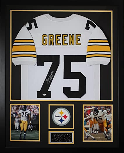0638b362374 Joe Greene Autographed White Steelers Jersey - Beautifully Matted and  Framed - Hand Signed By Joe