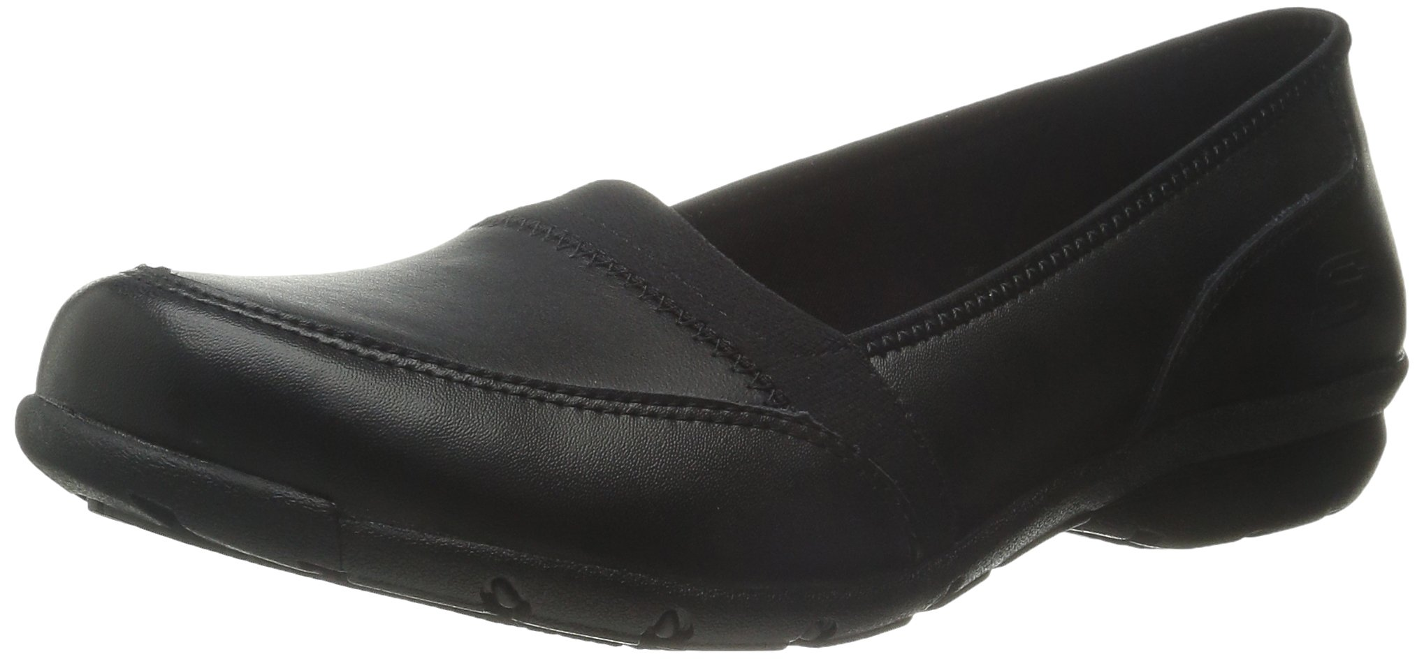 Skechers for Work Women's Slip On Flat,Black,6.5 M US