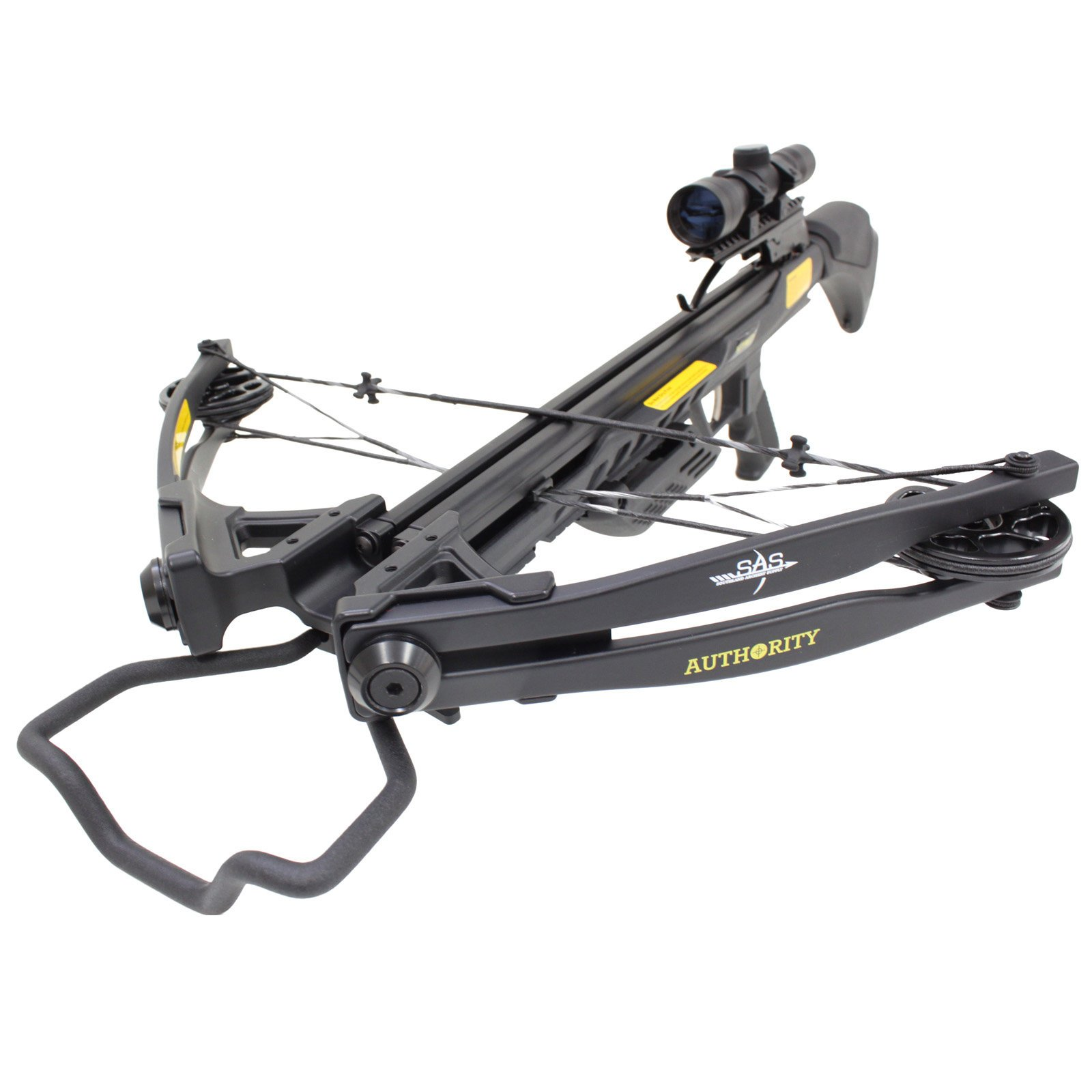 Southland Archery Supply SAS Authoirity 175lbs Compound Crossbow 4x32 Scope Package (Black)
