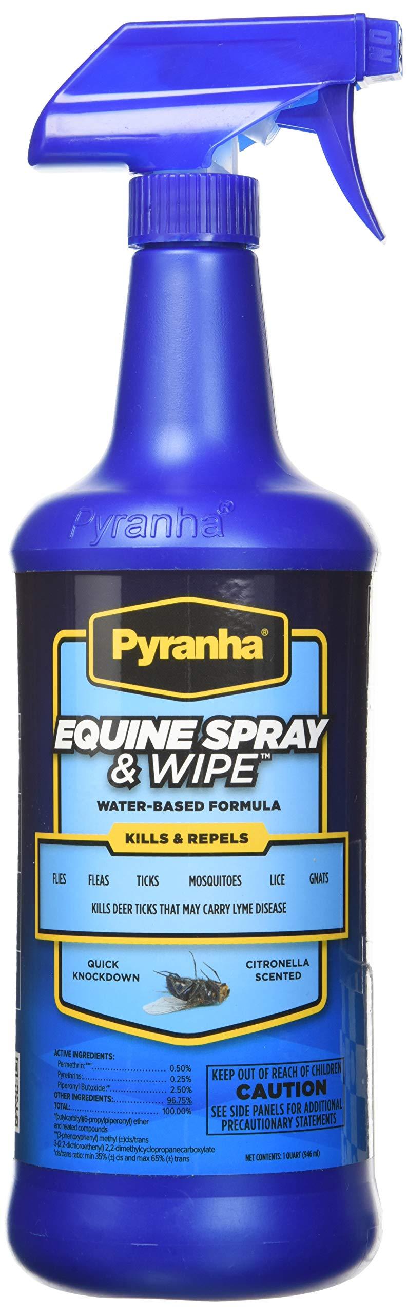Pyranha Spray N Wipe Fly Spray, 1 Qt by Pyranha Incorporated