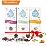 Tea Drops Assortment 3-Pack Sampler | 30 Bestselling Assorted Variety Instant Tea Favorites | Perfect Gift Set for Mothers Hostess Christmas Women Tea Lovers | Most Popular