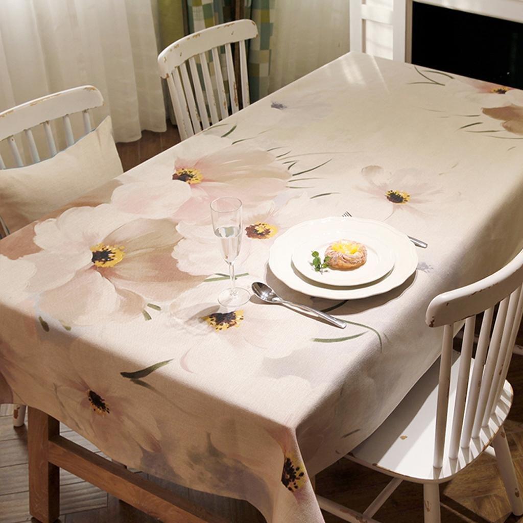 Mantel Tela Impresión digital Algodón y lino comedor Mantel de mesa Mantel de tela Rectangular , 140220cm