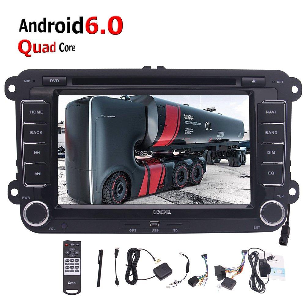 HDマルチタッチスクリーンAutoradioのBluetooth FM AM RDS無線LAN OBD +外部マイクとフォルクスワーゲンゴルフパサートポロジェッタティグアン用ダッシュ7インチGPSカーDVDプレーヤーヘッドユニットでクアッドコアのAndroid 6.0ダブル2DIN VWカーステレオ B075FS5GGL