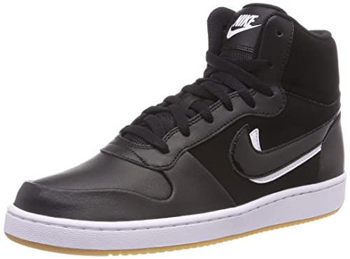 quality design 6c539 98fd3 Nike Men s Ebernon Mid Prem Fitness Shoes, Black White Gum Light Brown 002