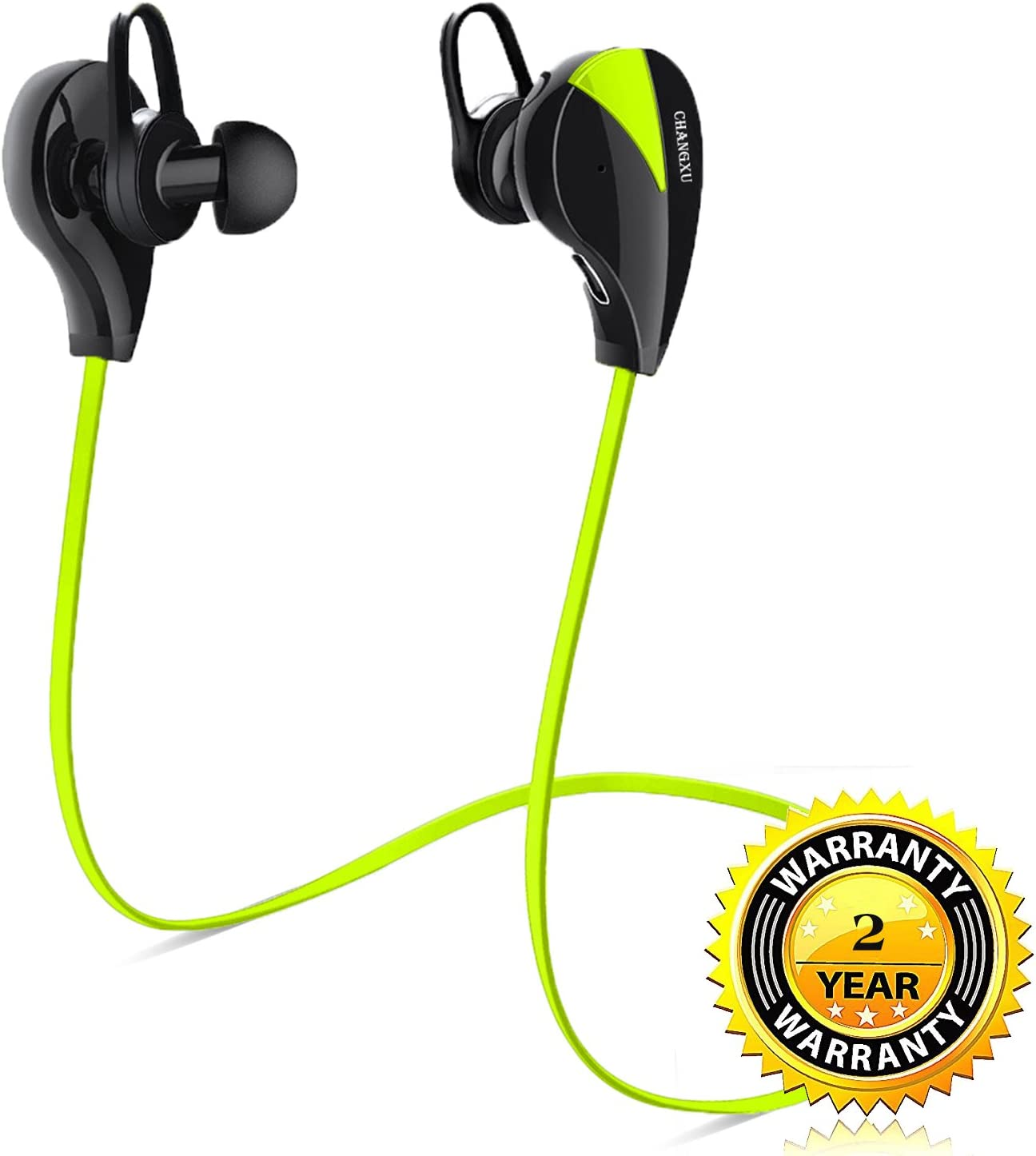 Changxu Bluetooth Headphones Bluetooth Earphones Best Bluetooth Headset Earphones With Mic Hd Stereo Sweatproof Anti Drop Lightweight Noise Cancelling For Sport Gym Running Workout For 8hours Amazon Ca Electronics