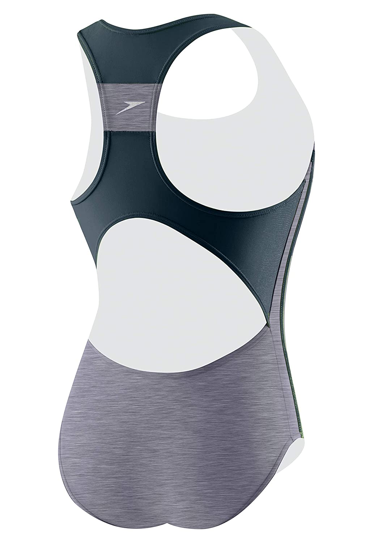 25f30cc6f Amazon.com  Speedo Girls  Infinity Splice One Piece Swimsuit  Sports ...
