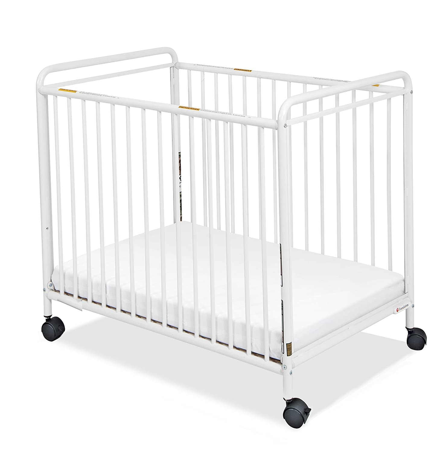 Evacuation crib for sale - Amazon Com Foundations Compact Steel Non Folding Crib Clearview Ends Chelsea Evacuation Cribs Baby