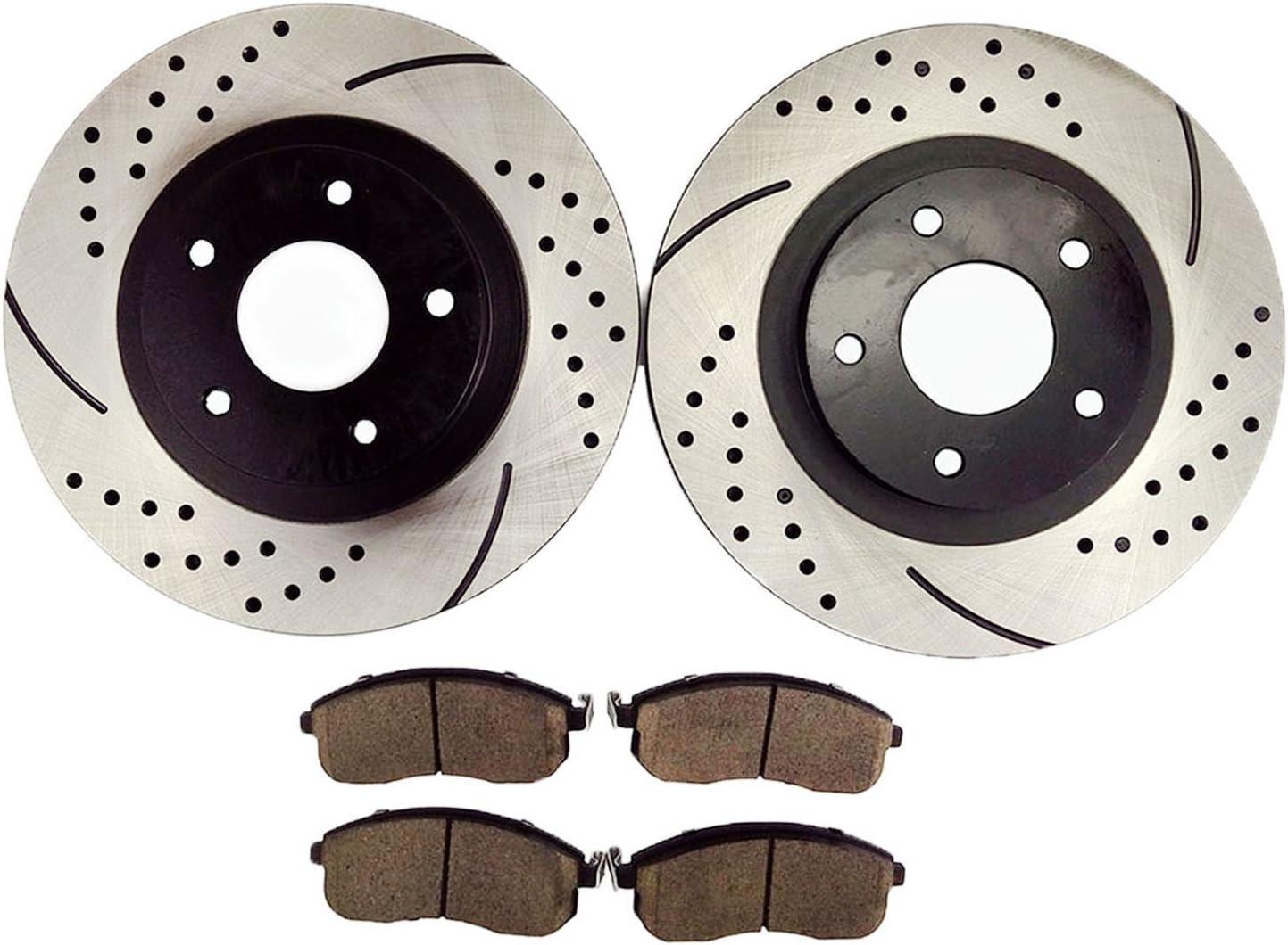 2002 2003 2004 Fits Infiniti I35 Rotors Ceramic Pads F OE Replacement