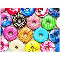 500 Pieces Jigsaw Puzzles Donuts for Adults and Teens and Kids Family Happy Time Gift Idea
