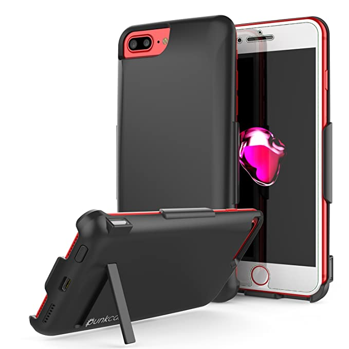 premium selection ec19a 47707 iPhone 7 PLUS Battery Case, PunkJuice 5000mAH Charger Case W/ Screen  Protector | Integrated Kickstand, USB & Lightning Port | Slim, Secure and  ...