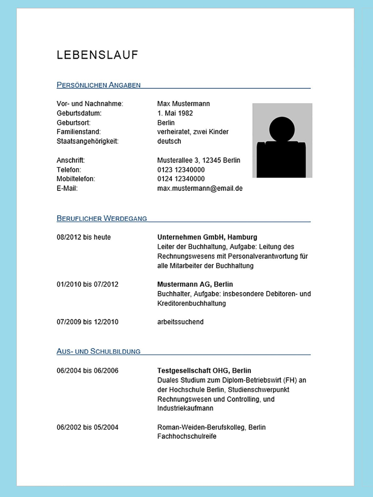 Professionellen Lebenslauf in Microsoft Word erstellen - Die Schritt ...