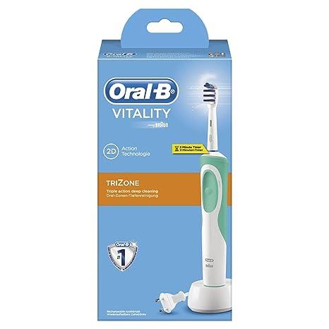 Oral-B Vitality TriZone Cepillo de Dientes Eléctrico Recargable con  Tecnología Braun 6c9973490a3c