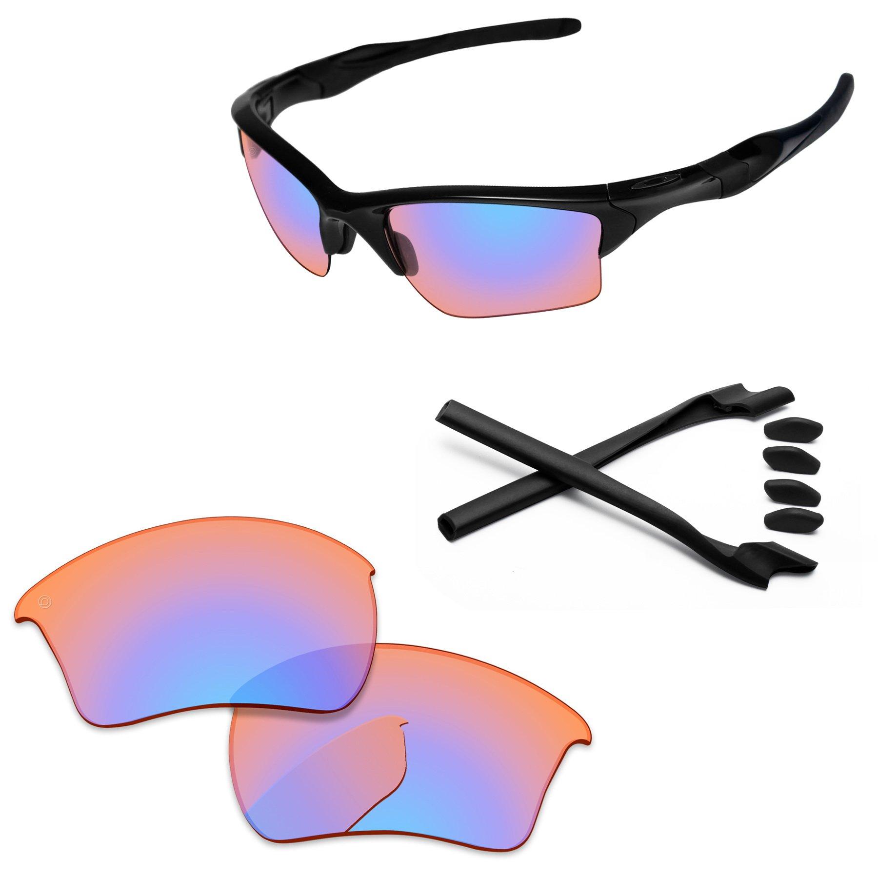 4b23929550bce PapaViva Replacement Lenses   Rubber Kits for Oakley Half Jacket 2.0 XL  Pro+ Orange Trail