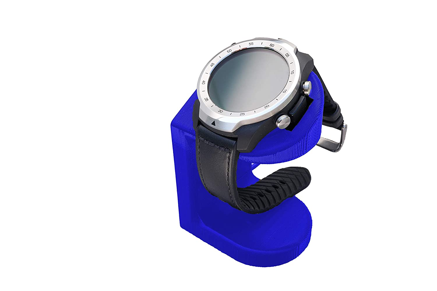 Artifex Design Stand Configured for TicWatch Pro Smartwatch, Charging Stand, Artifex Charging Dock Stand for Tic Watch Pro only (Blue)