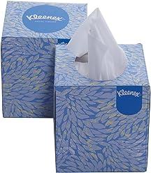 Kimberly-Clark Kleenex 60039 Facial Tissue Cube Box, 50 Pulls Per Box, 2 Ply, 2 Box Combo
