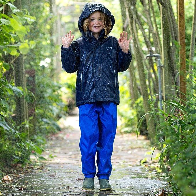 Sec Enfants Imperméable Bleu Royal sur Pantalon Âge 5-6 Ans