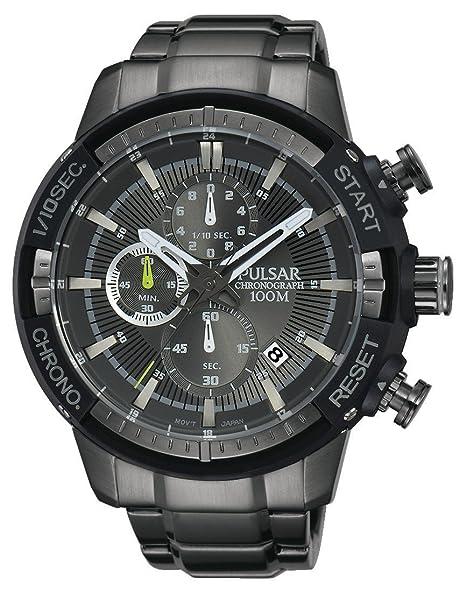 Pulsar Reloj Cronógrafo de Cuarzo para Hombre con Correa de Revestimiento De Acero Inoxidable - PM3049X1: Amazon.es: Relojes