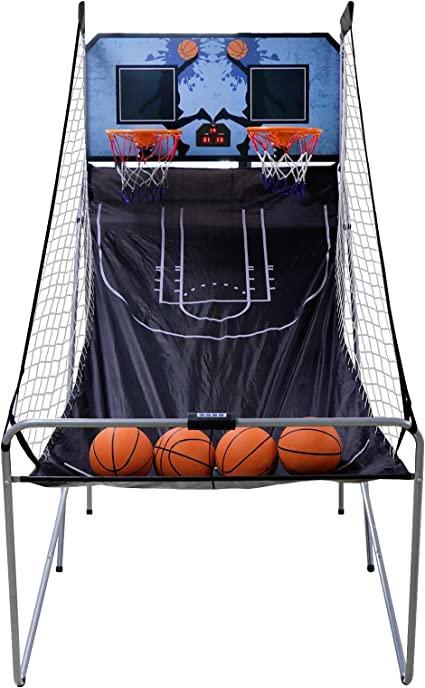 Electronic Scoreboard and Inflation Pump Nova Microdermabrasion Foldable Indoor Basketball Arcade Game Double Shot 2 Player W// 4 Balls