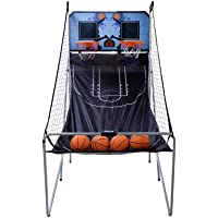 Nova Microdermabrasion Foldable Indoor Basketball Arcade Game Double Shot 2 Player W/ 4 Balls, Electronic Scoreboard and…