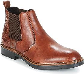 e3b8ac4f54755 Rieker Men Dark Tan Leather Chelsea Boots
