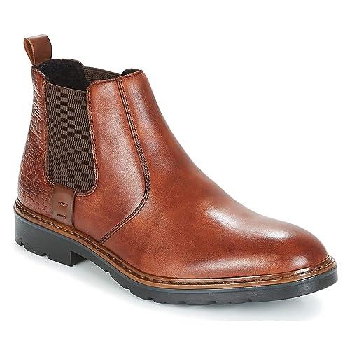 440efbdf64471 Rieker Men Dark Tan Leather Chelsea Boots: Amazon.co.uk: Shoes & Bags